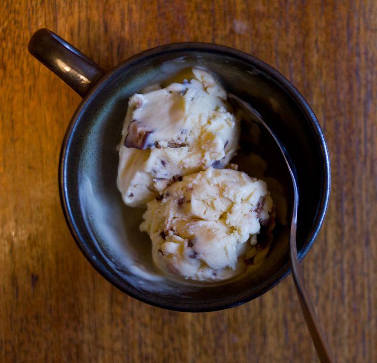 malted vanilla ice cream with kit kat | the answer is always pork