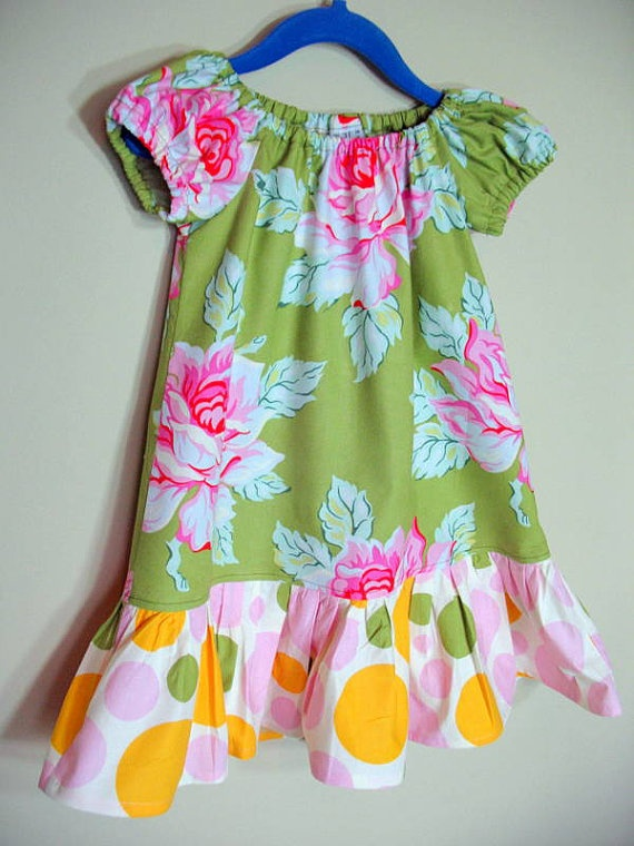 Perfect for my Lily.  Girls Peasant Dress Nicey Jane Floral Polka by SouthernSeamsKids, $28.00   # Pin++ for Pinterest #