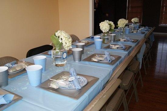 table set up april showers baby shower pinterest