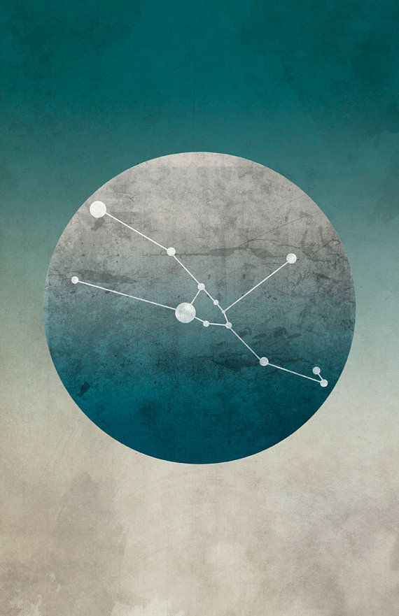 Zodiac Art Print Constellation Taurus