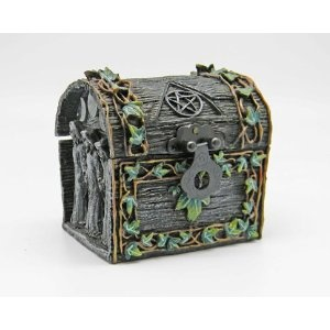 Triple goddess maiden mother crone chest box keepsake for Celtic decorations home