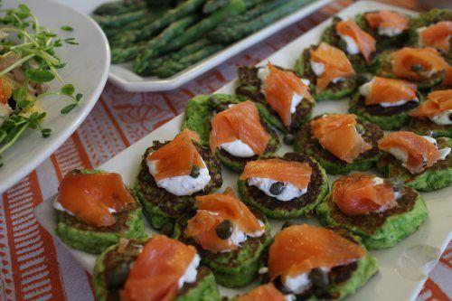 Sweet Pea pancakes with smoked salmon | Peas | Pinterest