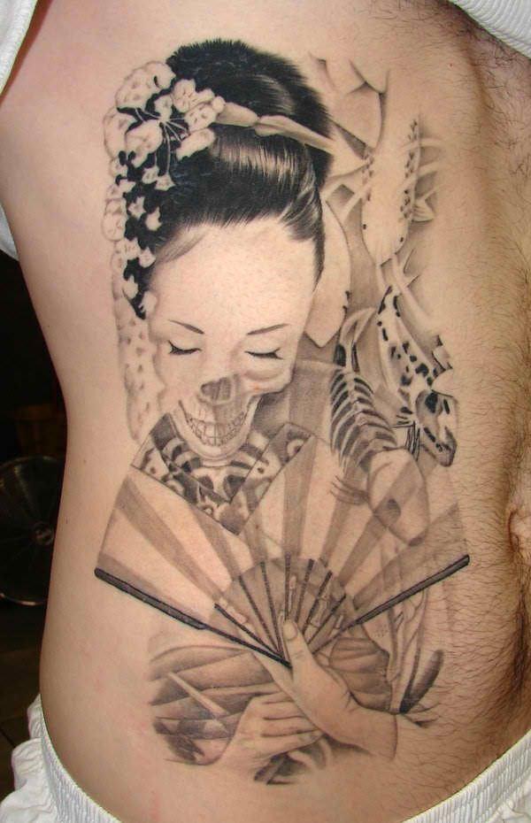 tattoo ideas for women japanese skeleton tattoos pinterest. Black Bedroom Furniture Sets. Home Design Ideas