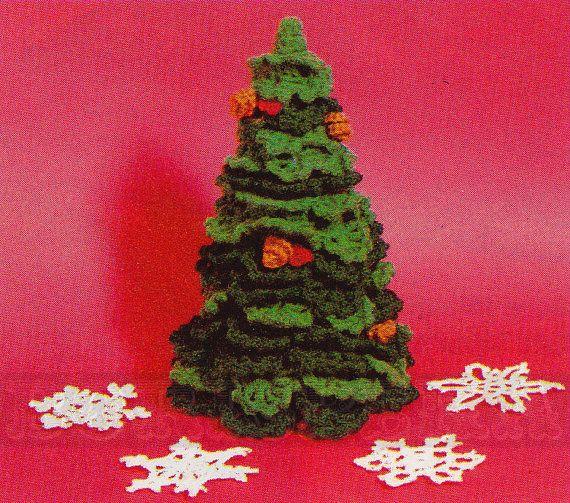 Vintage christmas tree amp snowflakes crochet patterns by borisbeka 3