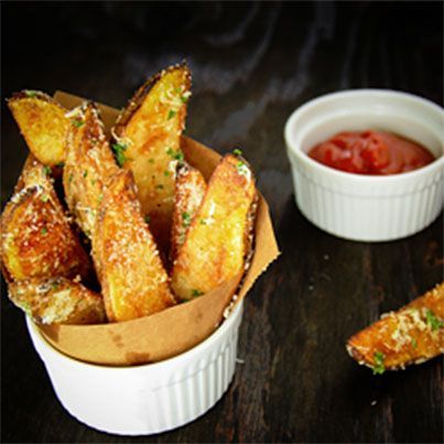 Oven Baked Potato Wedges   Recipes To Try   Pinterest