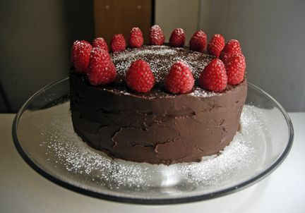 Chocolate Cake with Raspberry Mascarpone Filling and Chocolate Ganache ...