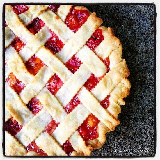 Strawberry-Apricot Pie from Domenica Cooks