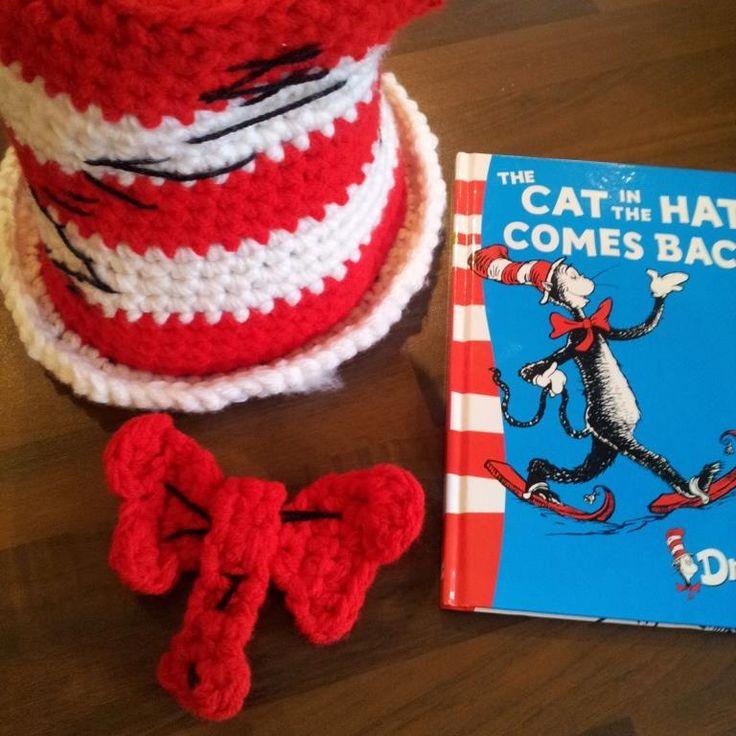 Cat in the Hat Crochet Pattern yarn Dr Seuss Pinterest
