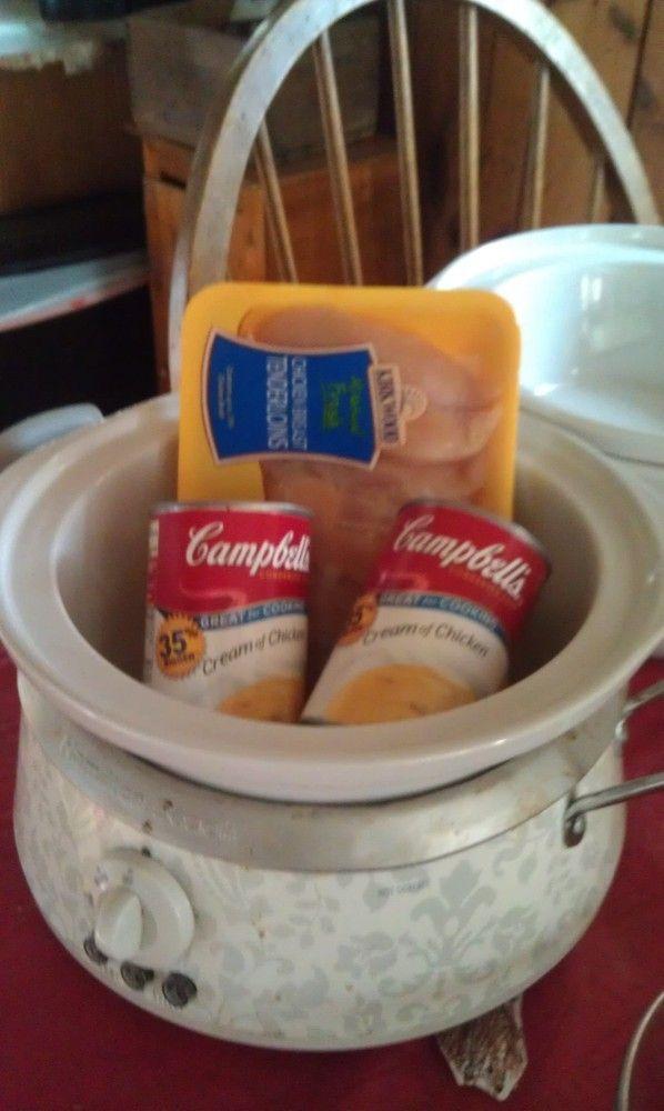 Chicken in Chicken Sauce? @Andrea Measom Crockpot Chicken and biscuits