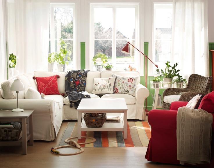 ikea wohnzimmer sessel:IKEA Österreich, Inspiration, Wohnzimmer, Sitzecke, hell, Leuchte