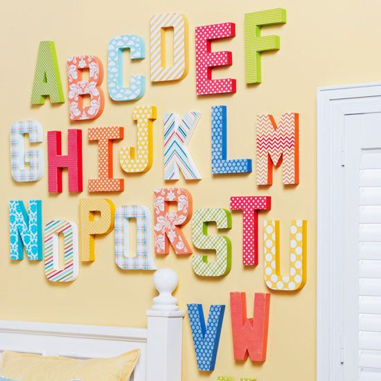 Alphabet Artwork Gift, DIY Handmade Gifts for the Holidays, Mohawk Homescapes