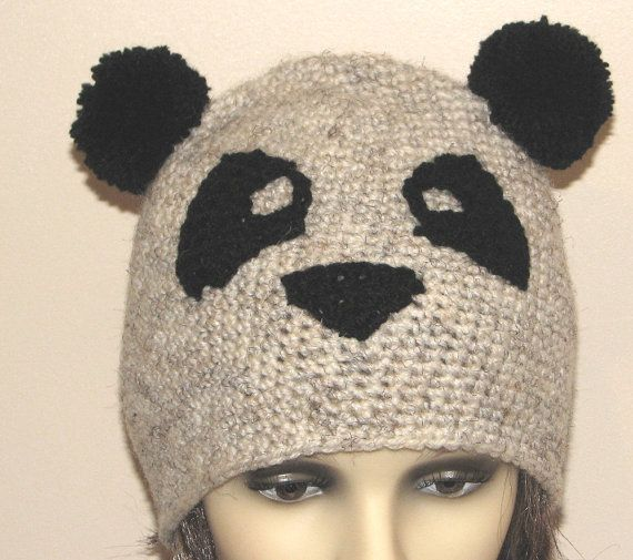 Knitting Pattern For Panda Hat : Crochet pattern for Panda hat (pdf) Knitting & Crochet Ideas Pint?