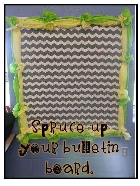 Tissue Paper Bulletin Board Border