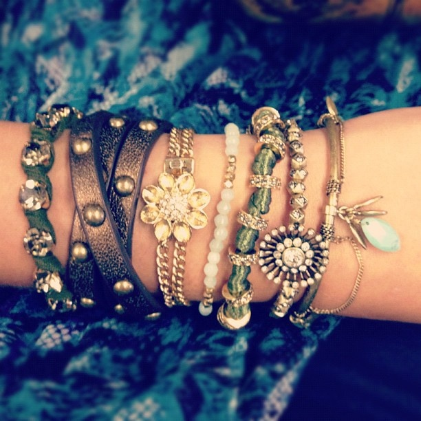 boho style arm party de jour #bracelets