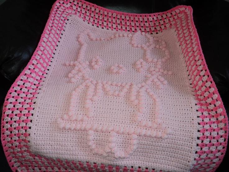 Crochet Pattern For Hello Kitty Baby Blanket : Hello kitty baby blanket SOLD