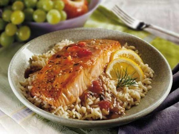 Balsamic Glazed Salmon   KitchenDaily.com