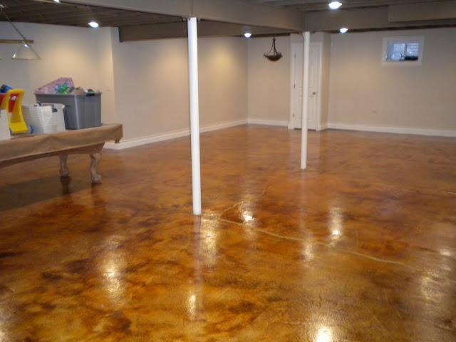 cola acid stain basement floor all american decorative concrete