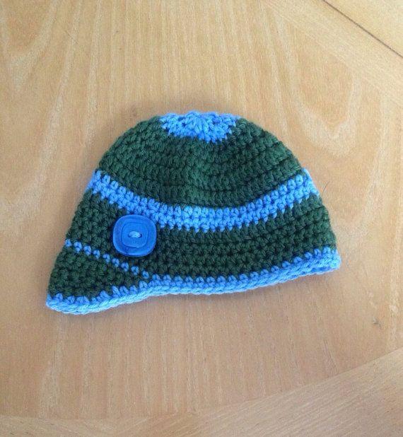crochet baby hat baby boy hat baseball cap 3 months