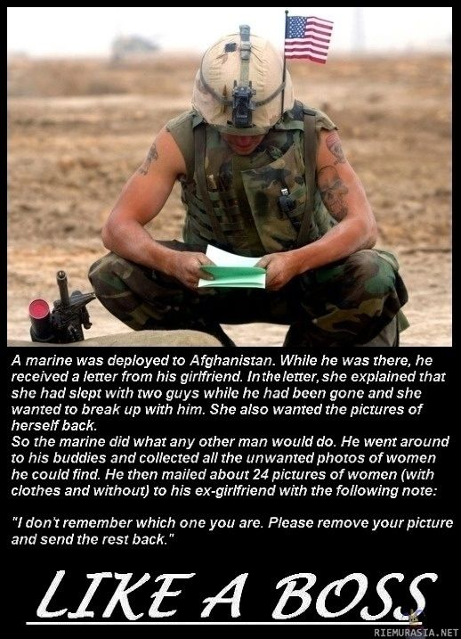 This is awesome... How A U.S. Marine Deals With A Cheating Girlfriend