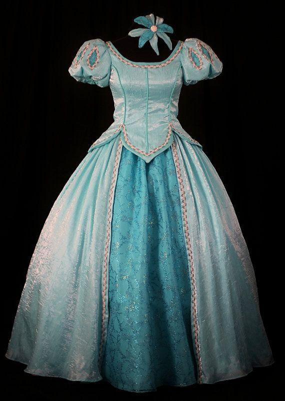 child little mermaid aqua ball gown custom by