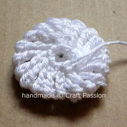 Crochet Tutorial Yo-Yo Puff : yo yo puff flower Crochet flowers Pinterest