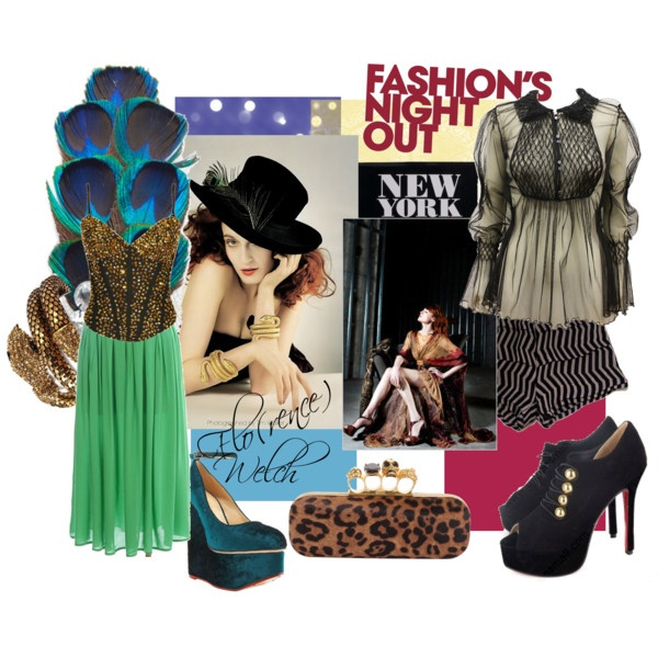 Styling a Fashion Icon - Florence Welch, created by #aclaire on #polyvore. #fashion #style Matthew Williamson JF & Son