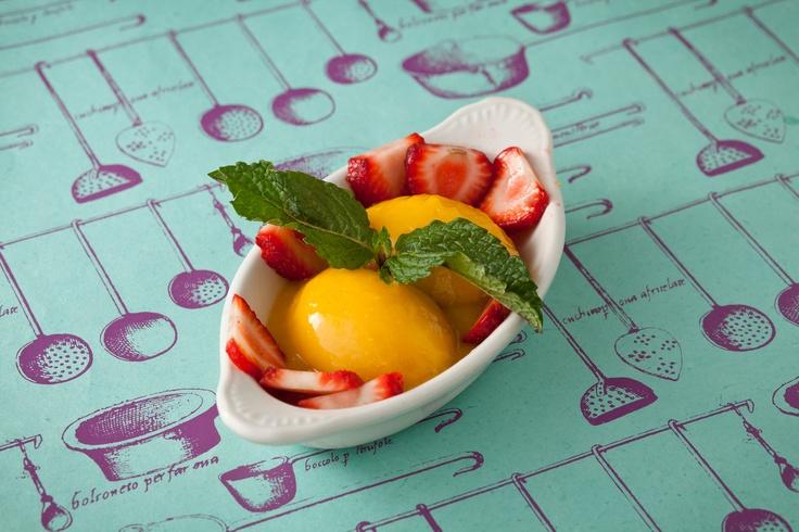orange sherbet lemon mint sherbet grapefruit and champagne sherbet ...