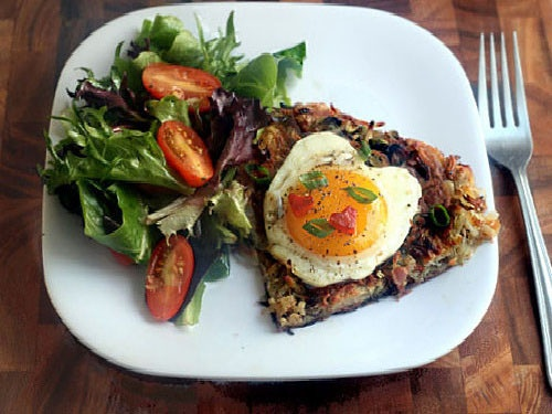 Potato Rosti with BACON, Brie, Scallions and Brown Butter Applesauce ...