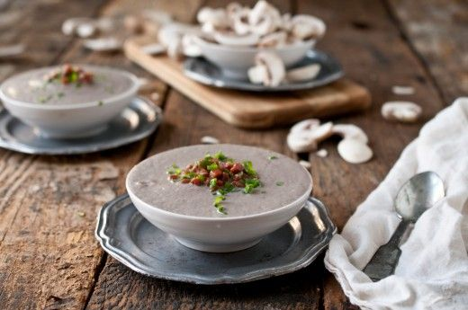 Creamy Mushroom Stout Soup with Crispy Pancetta | THE KITCHENTHUSIAST ...
