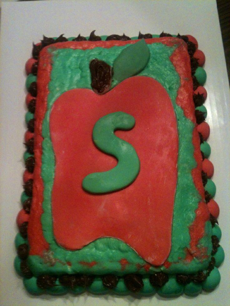 Teacher Birthday Cake  Anns Homemade Cakes & desserts  Pinterest
