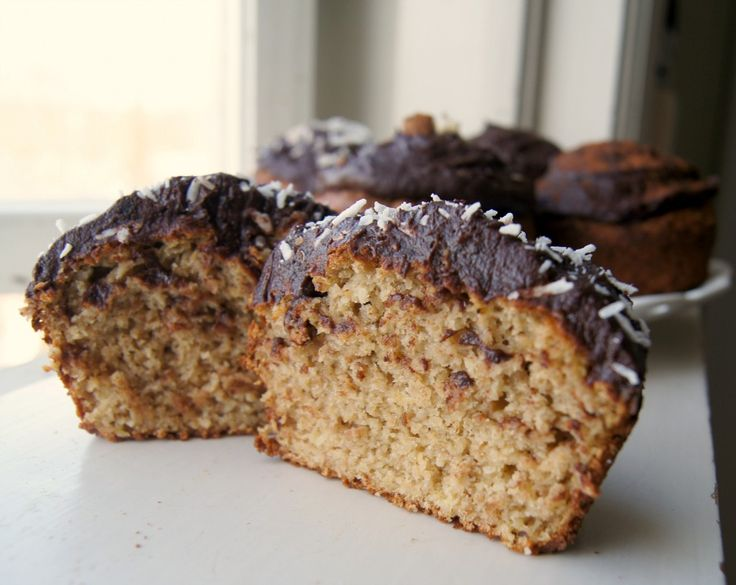 ... , Gluten Free Peanut Butter & Banana Muffins with Chocolate Frosting