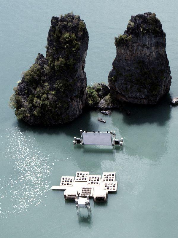 Archipelago Cinema, A Floating Auditorium in a Thai Lagoon