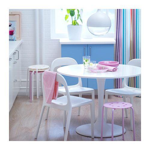 DOCKSTA Table IKEA Les douces courbes dune table ronde apportent à la pièce une impression de détente.