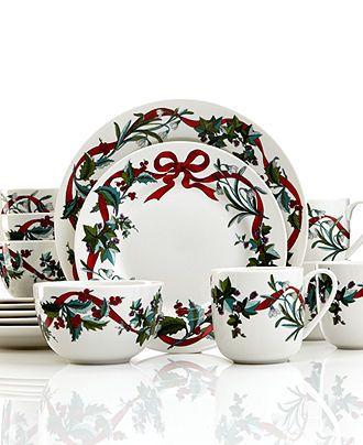 Martha Stewart Collection Holiday Garden 16 Piece Set