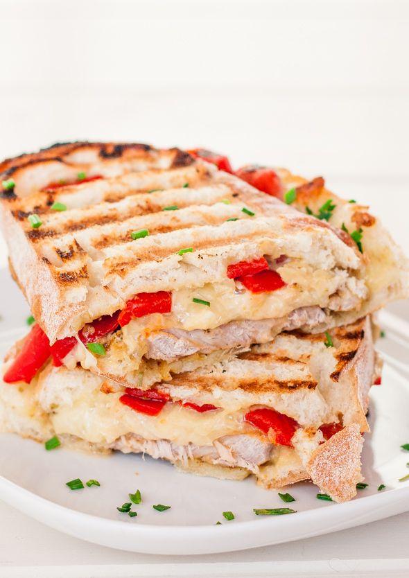 Marinated Pork Sandwich with Rosemary Aioli, Mozzarella Cheese and Ro ...