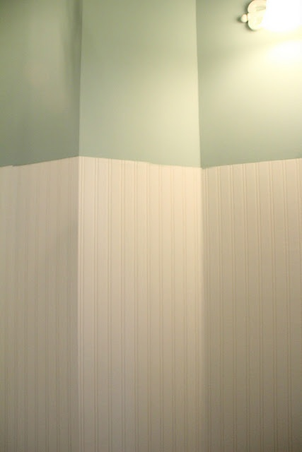 Beadboard Wallpaper Bathroom Pinterest