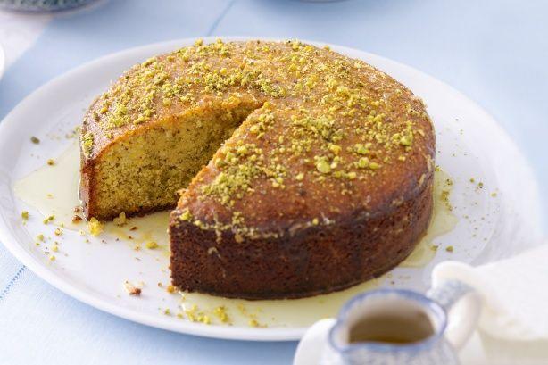 Pistachio & semolina syrup cake   Cake   Pinterest