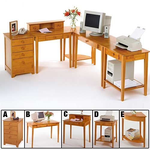 Setting up a home office? Mix and match the Computer Desk Components