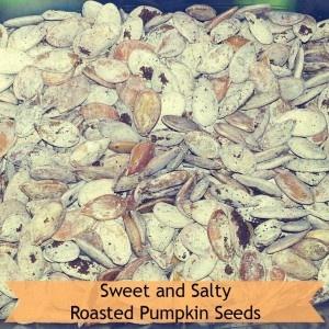 Sweet and Salty Roasted Pumpkin Seeds | halloween | Pinterest