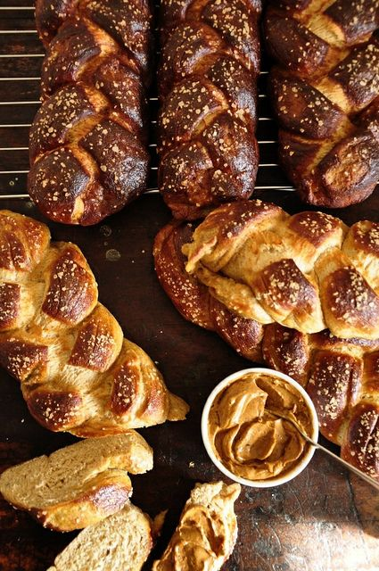 Challah Pretzel Bread with Adobo-Lime Butter by holajalapeno