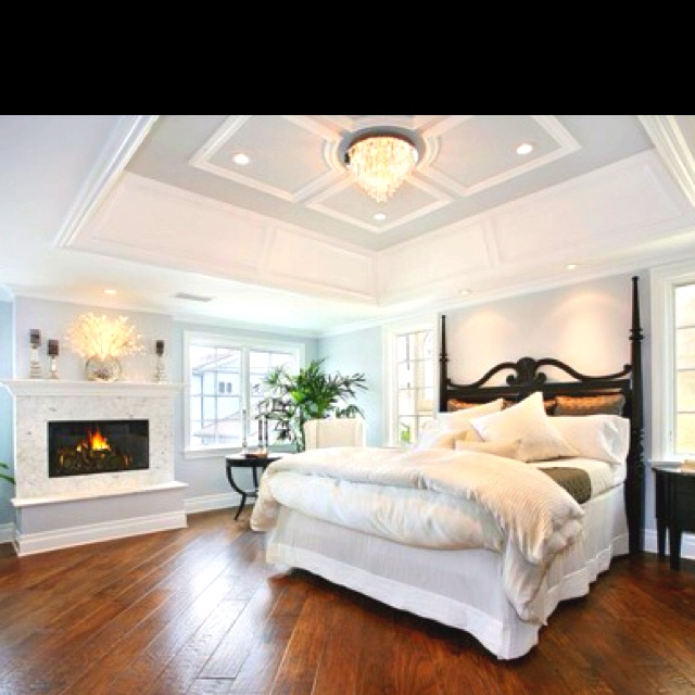 Tray Ceiling Designs Bedroom: Love The Tray Ceiling And Wood Floors!