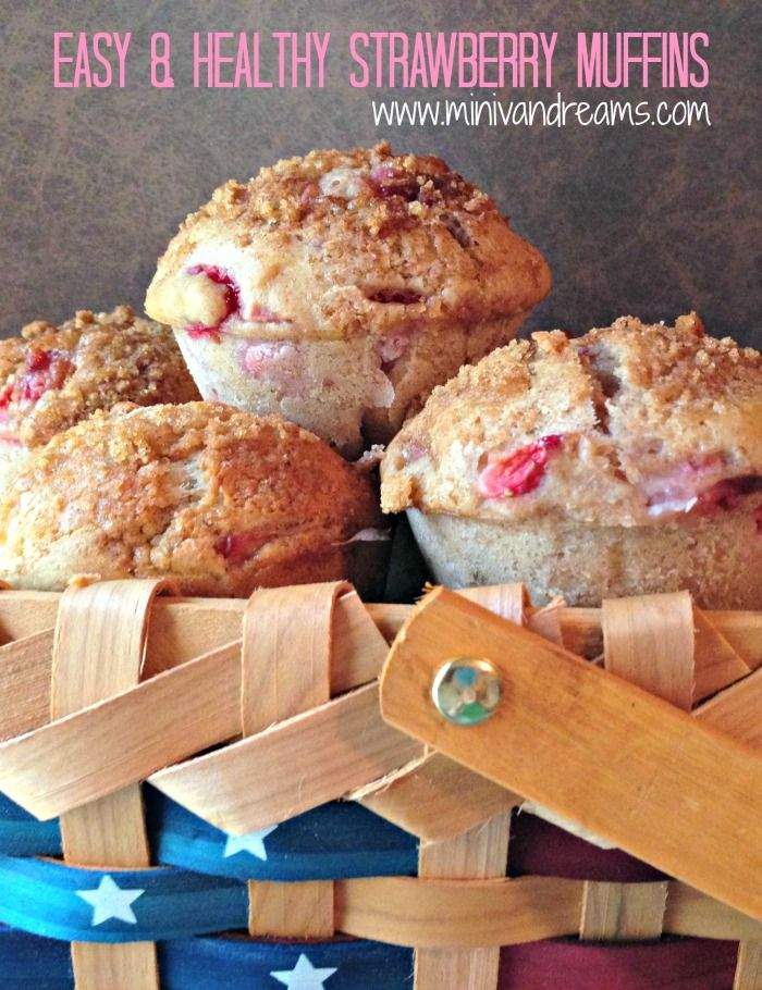 Easy & Healthy Strawberry Muffins #recipe #muffins #strawberry #easy ...