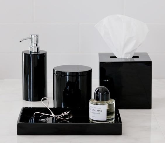 Black Lacquer Bathroom Accessories Master Bath Pinterest