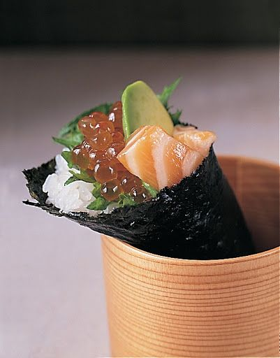 nobu s hand rolls recipes dishmaps to make hand rolls to guests at the ...