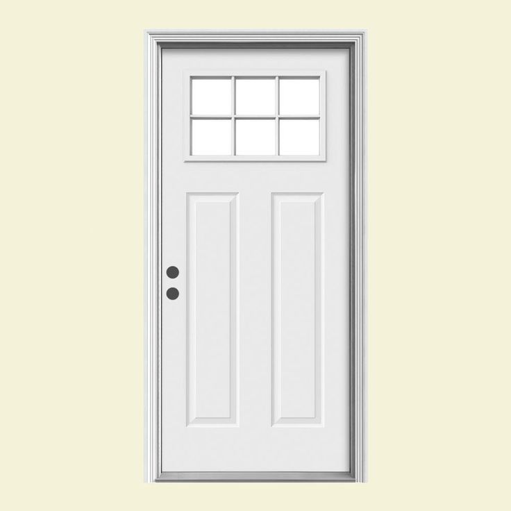 door premium craftsman 6 lite primed steel entry door