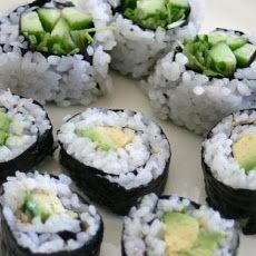Cucumber and Avocado Sushi   Recipes to try   Pinterest