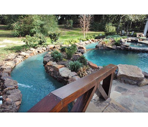 Lazy River In My Backyard : Natural pool with lazy river  Pool Landscaping and Decking  Pintere