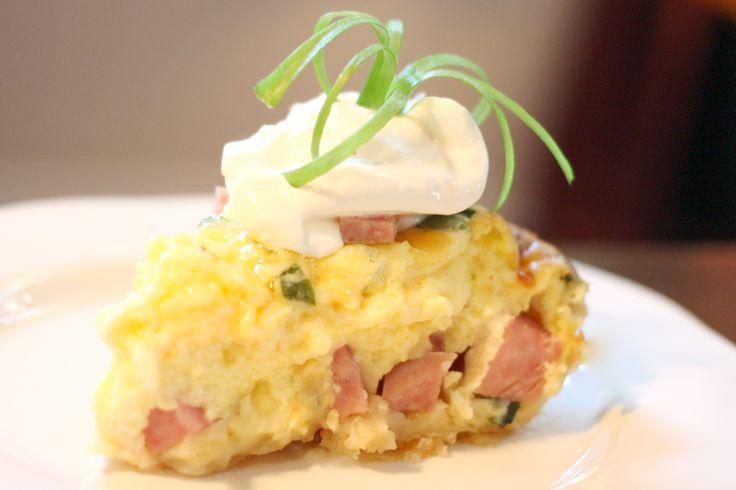 Ham And Cheese Breakfast Quiche Recipe — Dishmaps