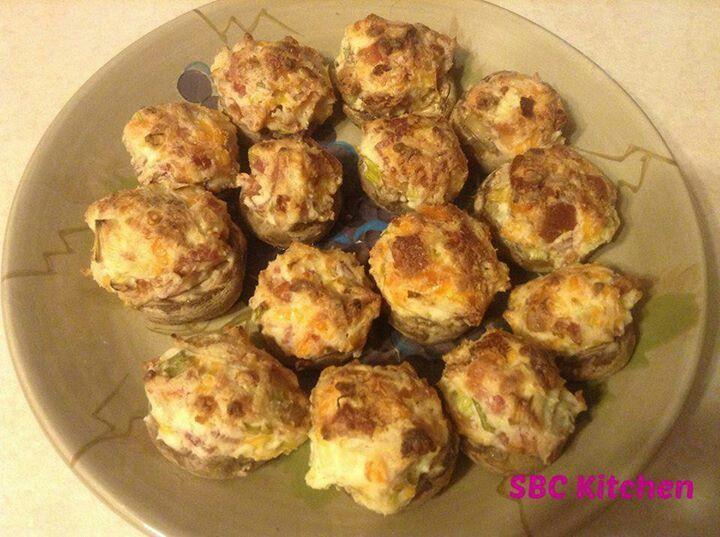 simple stuffed mushrooms | Food | Pinterest