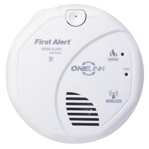 onelink wireless interconnect smoke detector with voice alarm. Black Bedroom Furniture Sets. Home Design Ideas